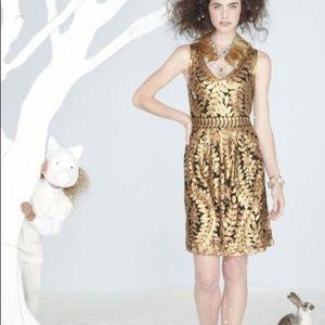 Anthropologie Project Alabama Gold Leaf Dress 0